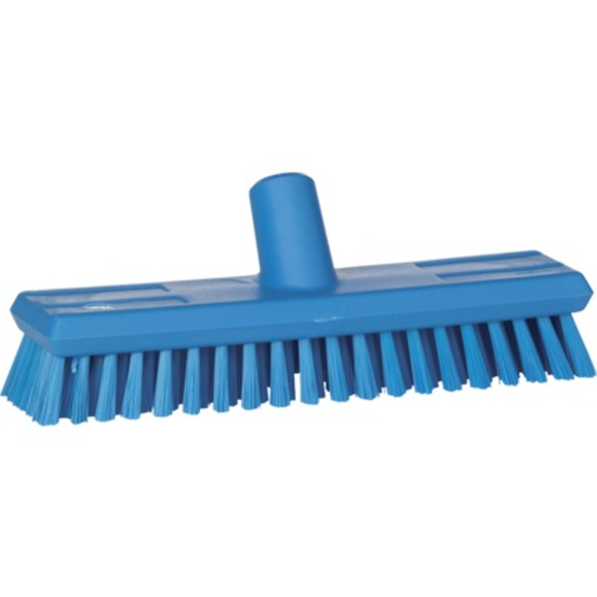 Vikan schrobber 27cm met watertoevoer met medium polyester vezels blauw  - 70433
