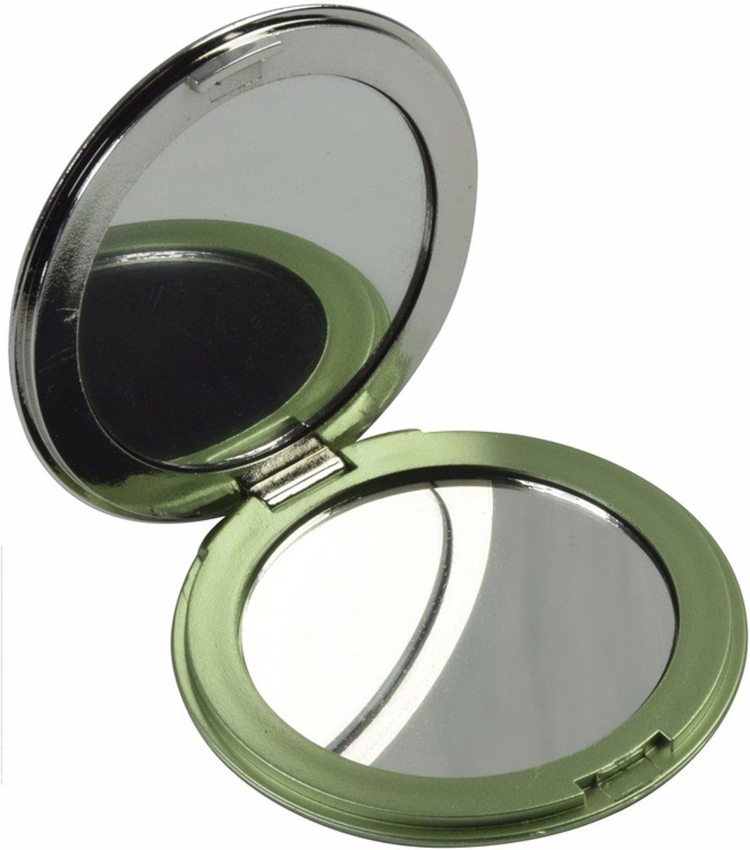Zak spiegeltje groen - make up spiegel