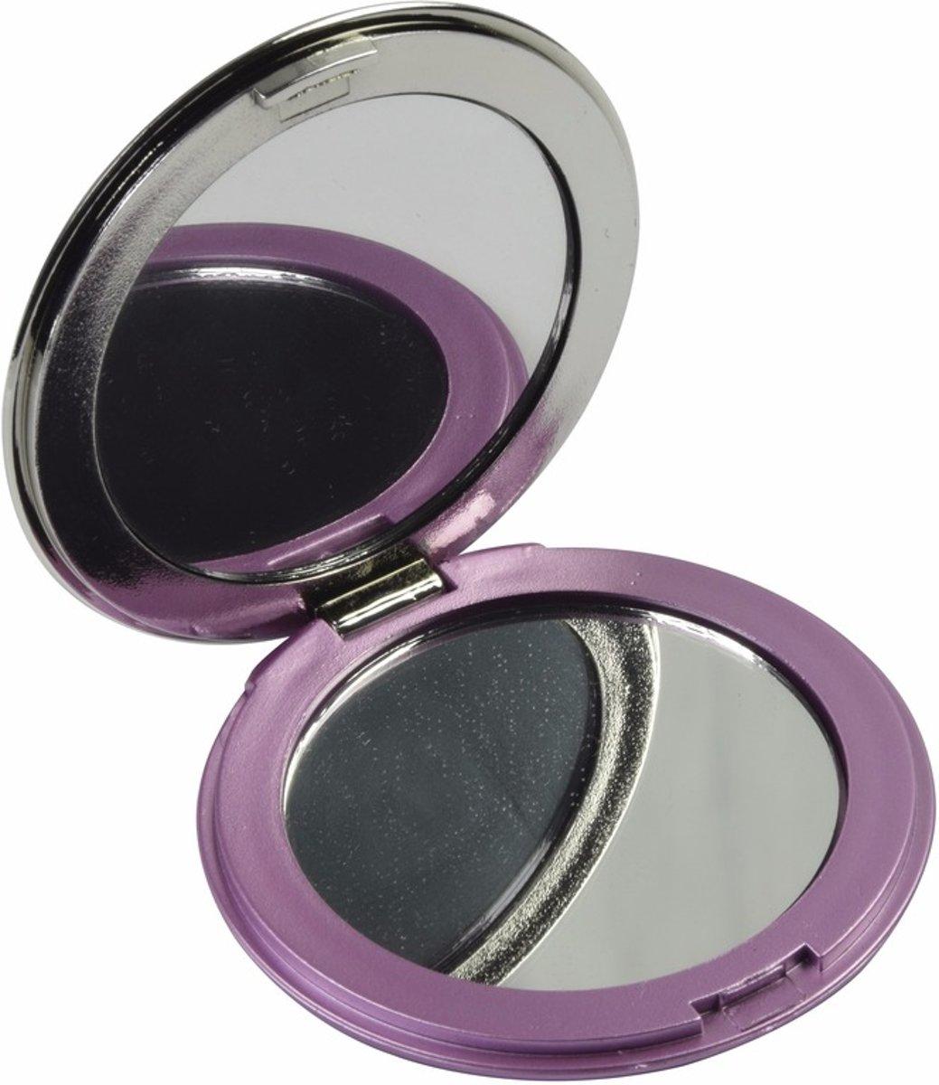 Zak spiegeltje roze - make up spiegel