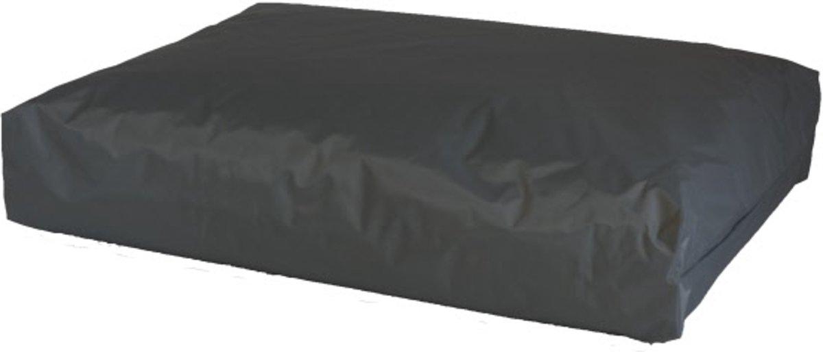 Comfort-Kussen Dierenkussen Hondenkussen nylon antraciet maat 75x55x10 cm