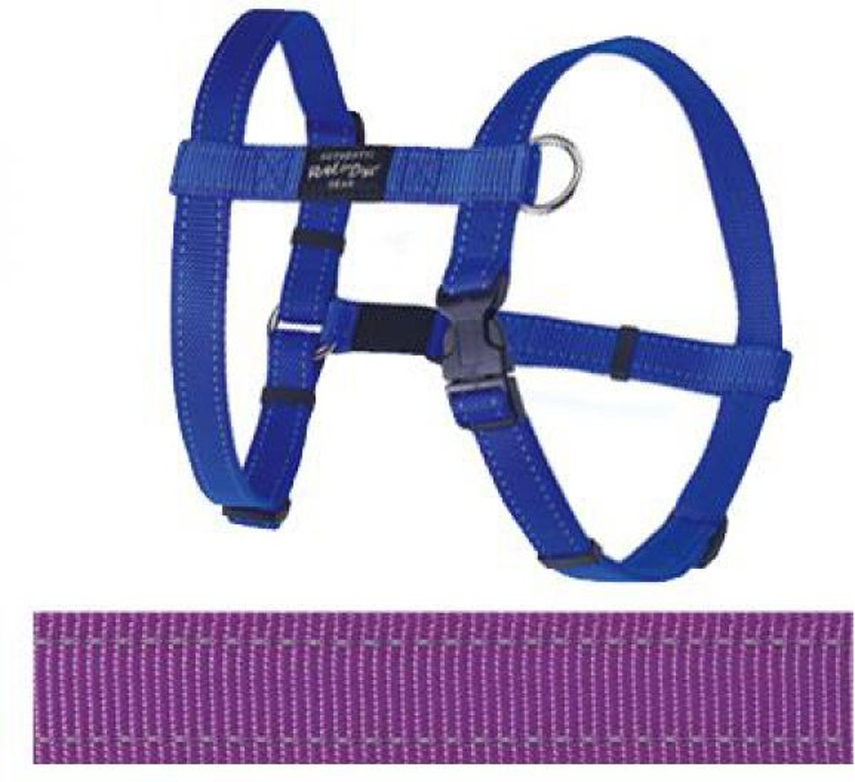 Rogz For Dogs Fanbelt Hondentuig - Paars - 20 mm x 45-75 cm