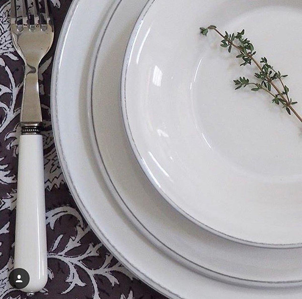 Cot? Table Constance ontbijtborden (4 stuks) - wit