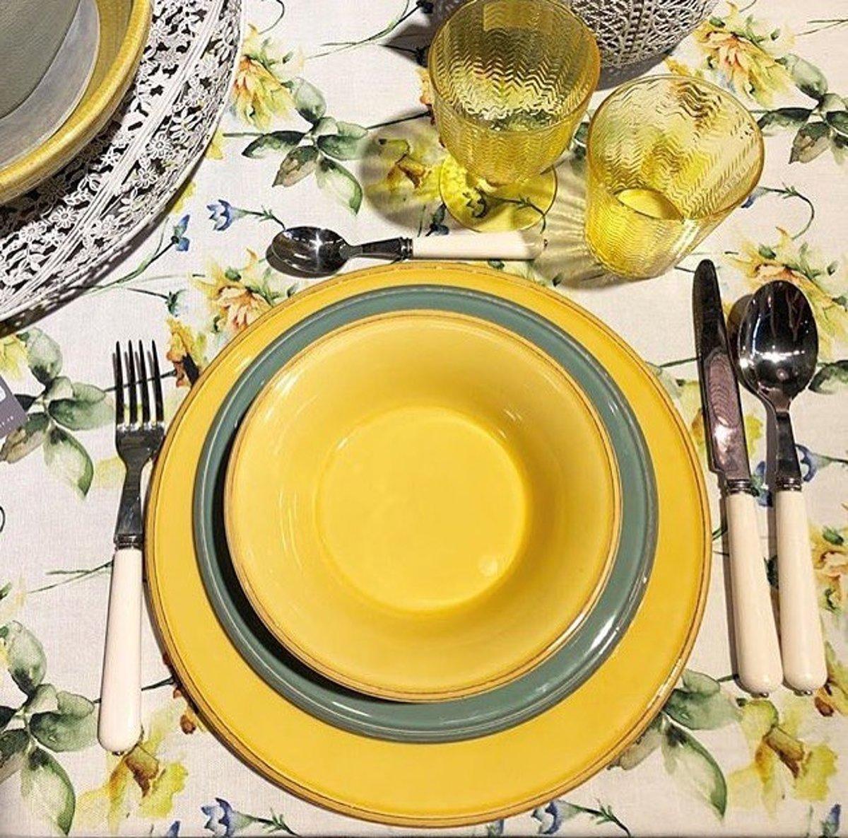 Cot? Table Constance ontbijtbord (4 stuks) 23,5cm - geel