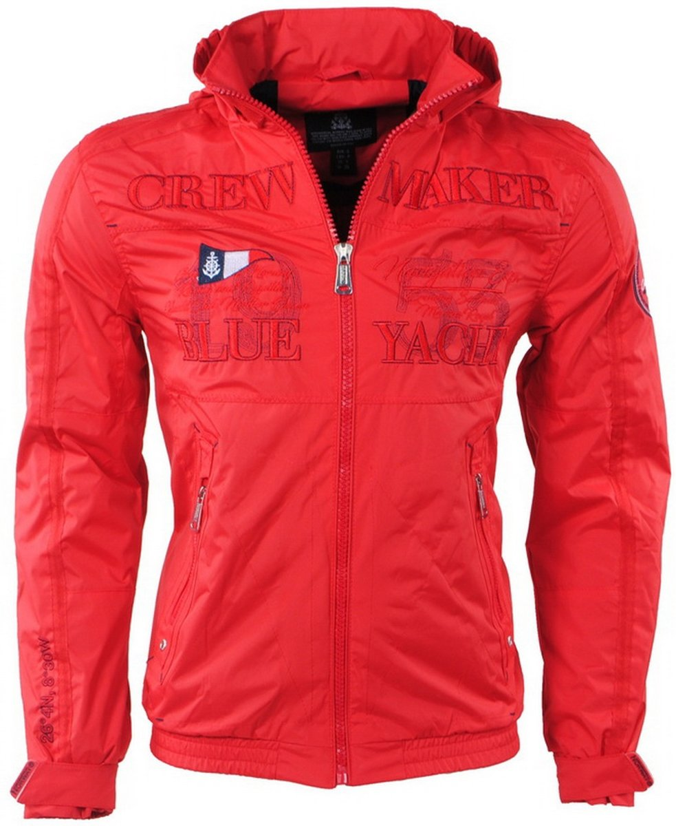 Geographical Norway - Heren Zomerjas - Capuchon - Yacht - Cacao - Rood