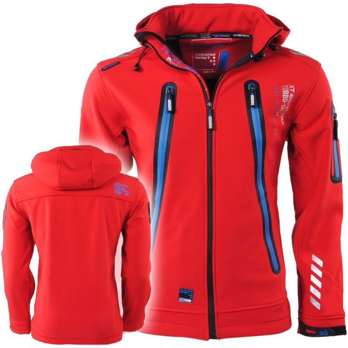 Geographical Norway - Heren - Softshell Jas - Capuchon - Tarzan - Rood