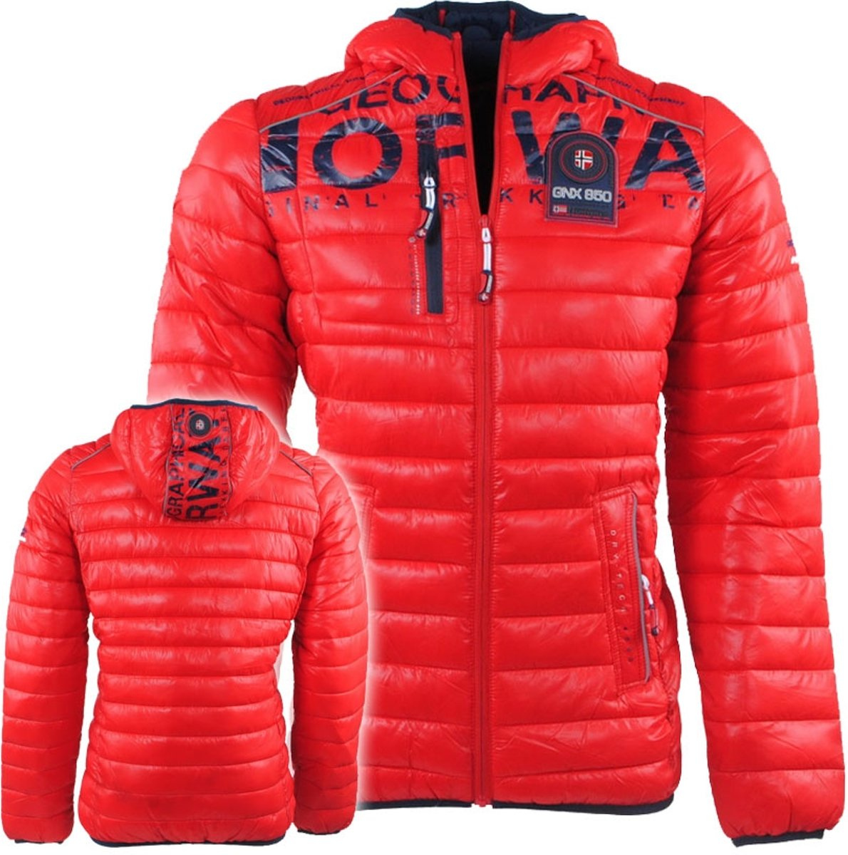 Geographical Norway - Heren - Winterjas - Budapest - Rood