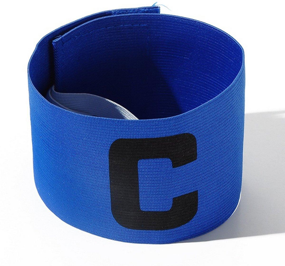 Aanvoerdersband Captainsband - C - Captain Aanvoerder Band - Voetbal Hockey - Blauw - Senior