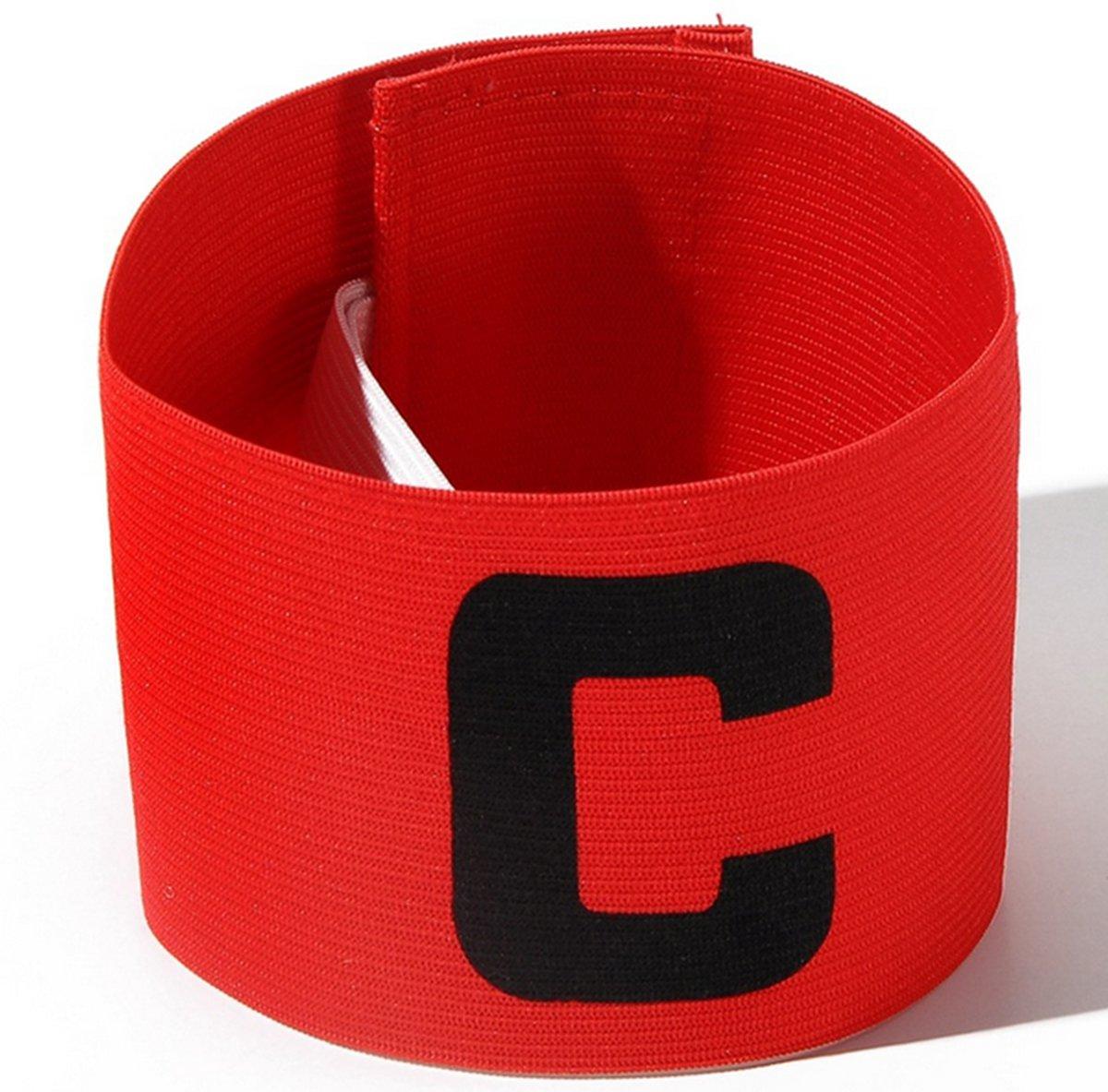 Aanvoerdersband Captainsband - C - Captain Aanvoerder Band - Voetbal Hockey - Rood - Senior