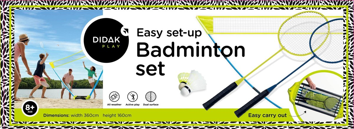 Didak Play Easy Set-Up Badminton Set - 360x160 Cm