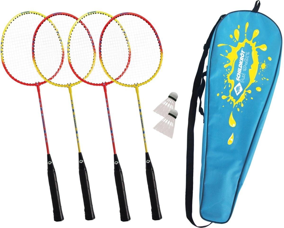Schildkr?t Fun Sports - Hoge kwaliteit Badmintonset voor 4 Spelers