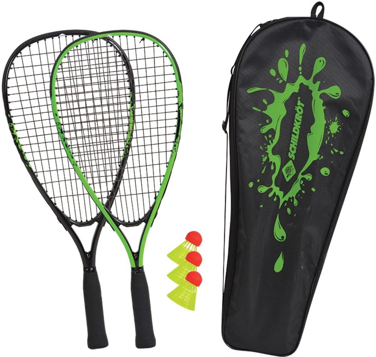 Schildkr?t Funsports Badmintonset 5-delig Zwart/groen