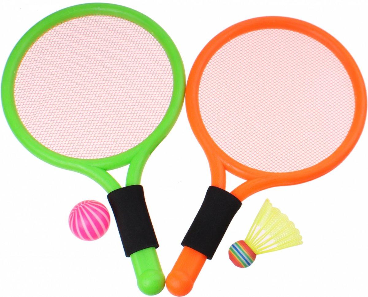 Toyrific Badmintonset 38 Cm 4-delig Groen/oranje