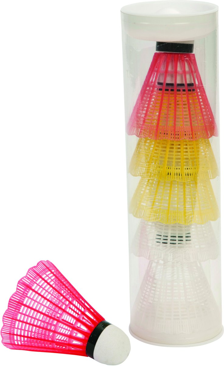 Angel Sports badminton shuttles - 6 Stuks - Plastic