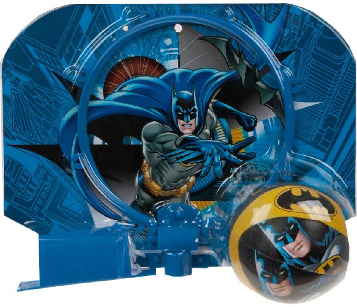 Kamparo Basketbalring Met Bal Batman Blauw 29 X 22 Cm