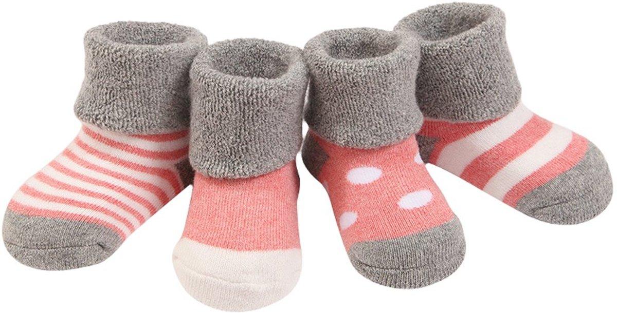 4 paren Dikke Sokken Babymeisjes