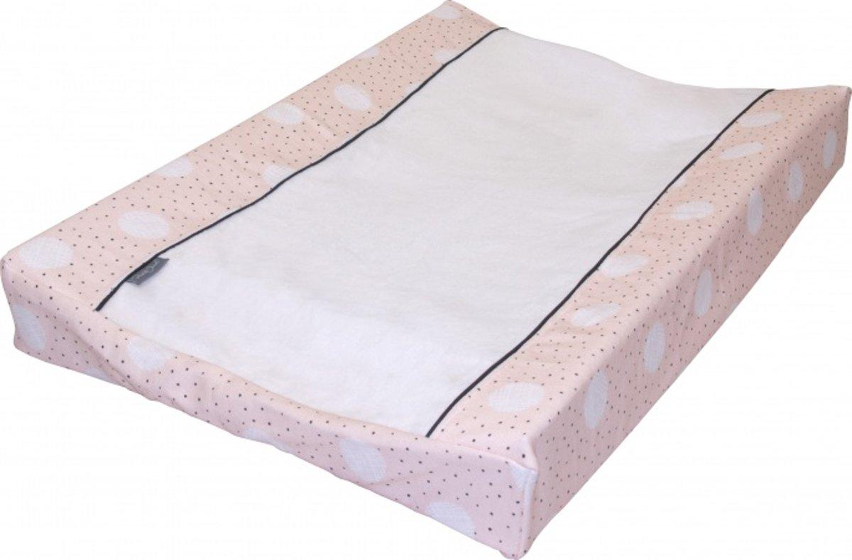 Petit Juul - Aankleedkussenhoes - 42-46 x 72-75 - Pink dot/cr?me