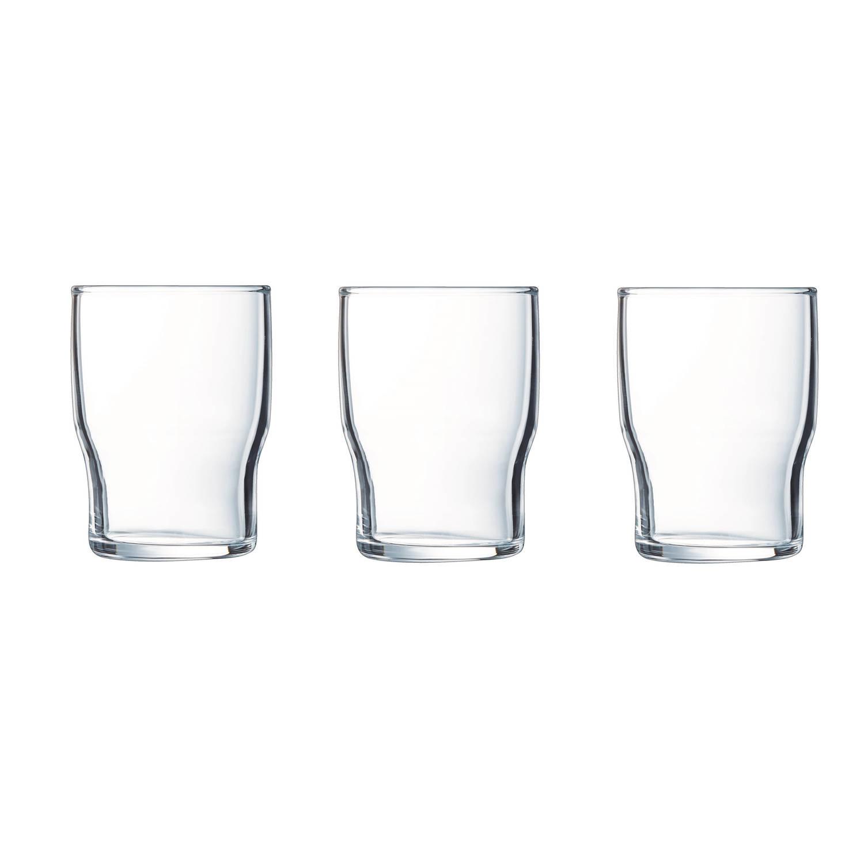 6x Stuks Sapglazen/waterglazen Transparant 180 Ml - Glazen - Drinkglas/waterglas/sapglas