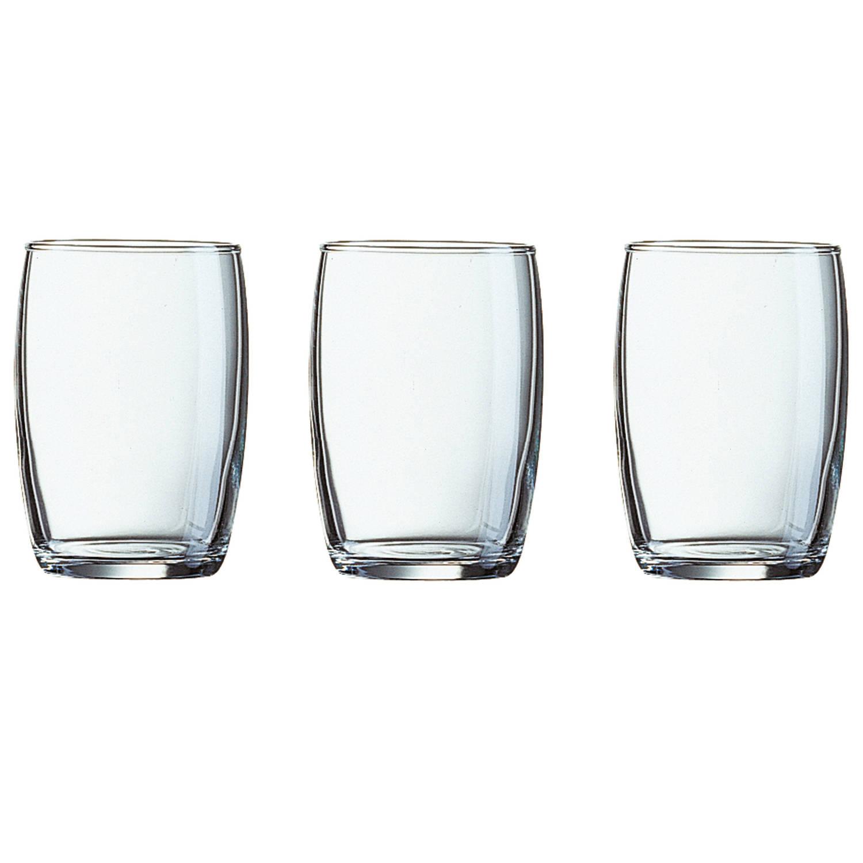 6x Stuks Waterglazen/drinkglazen Transparant 160 Ml - Glazen - Drinkglas/waterglas/sapglas