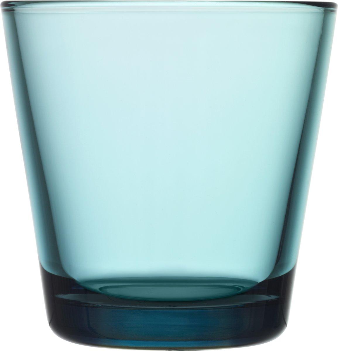 Iittala Kartio Glas - 21 cl - Zeeblauw - 2 stuks