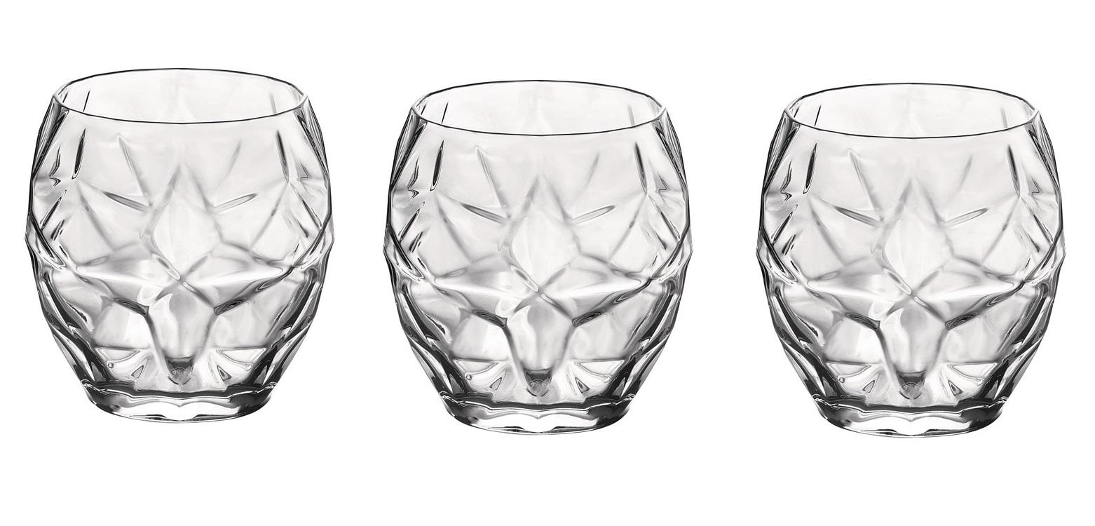 Bormioli Glazen Oriente Transparant 40 cl - 3 Stuks