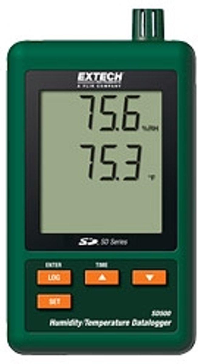 SD500: Vochtigheids- en thermometer met datalogger