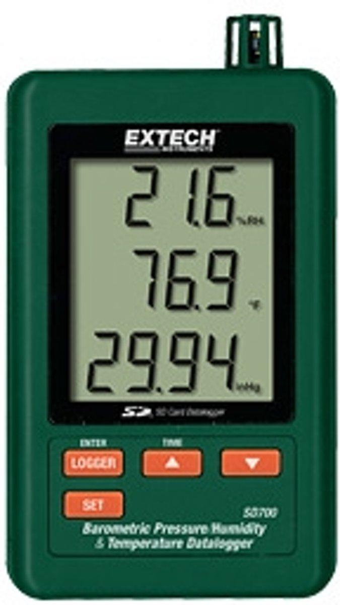 SD700: Vochtigheidsmeter, barometer en thermometer met datalogger