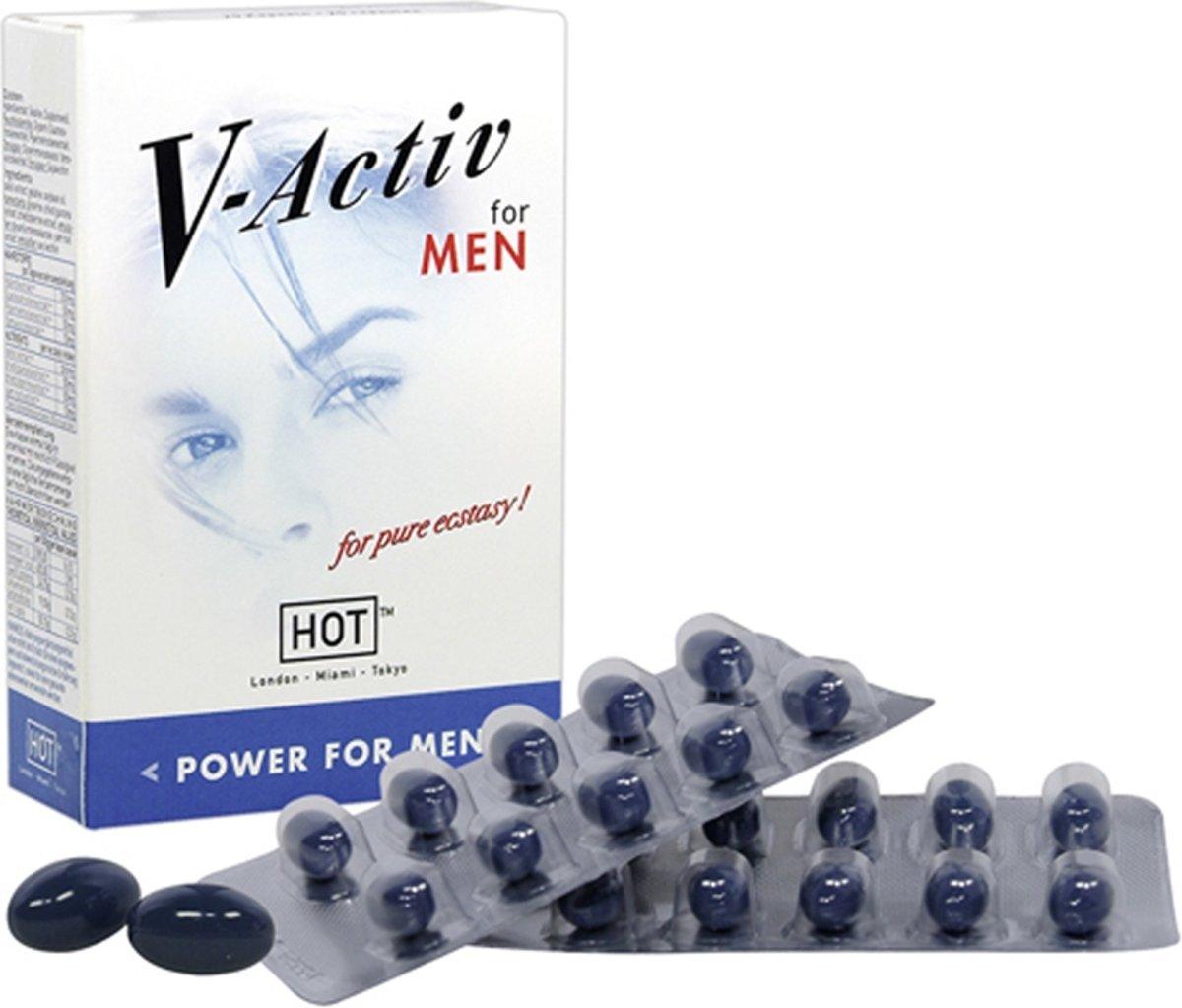 Hot V-Activ Caps For Men - 20 stuks - Erectiepillen