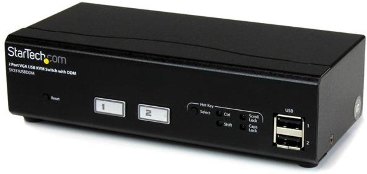 StarTech.com 2-poorts USB VGA KVM-switch met DDM-snelschakeltechnologie en kabels