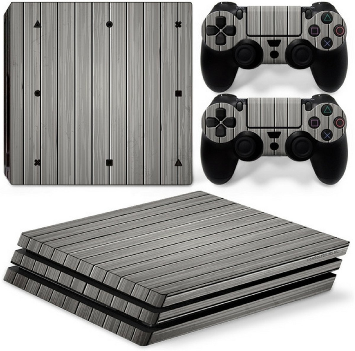 Wood Grey - PS4 Pro Console Skins PlayStation Stickers