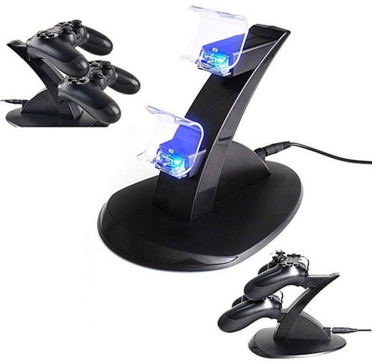 Dock voor Playstation 4 PS4 controllers met LED verlichting / Oplader Oplaadstation