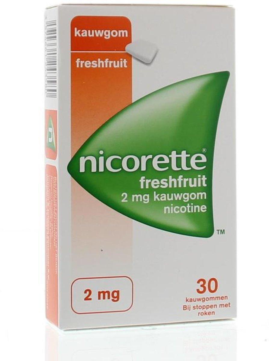 Nicorette Nicotine kauwgom fresh fruit 2mg