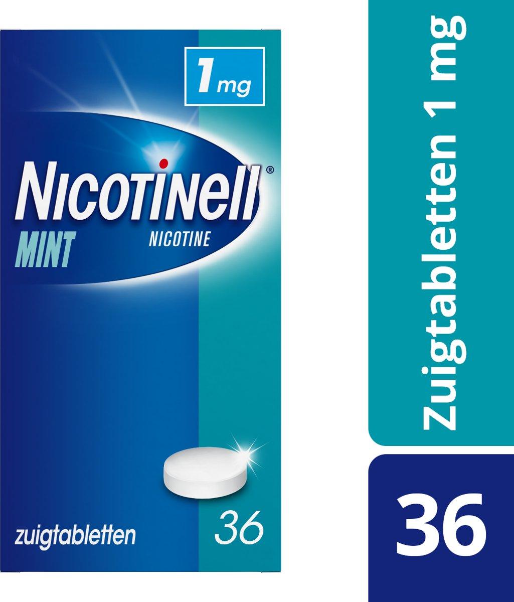 Nicotinell Mint 1 mg zuigtablet - 36 stuks - Antirookbehandeling