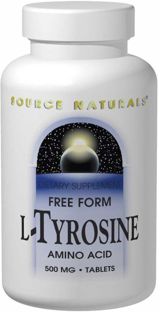 L-Tyrosine, 500 mg, 100 tablets Source Naturals