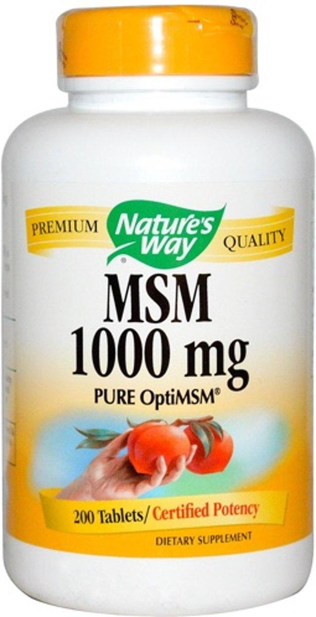 MSM 1000mg Nature's Way 200tabl
