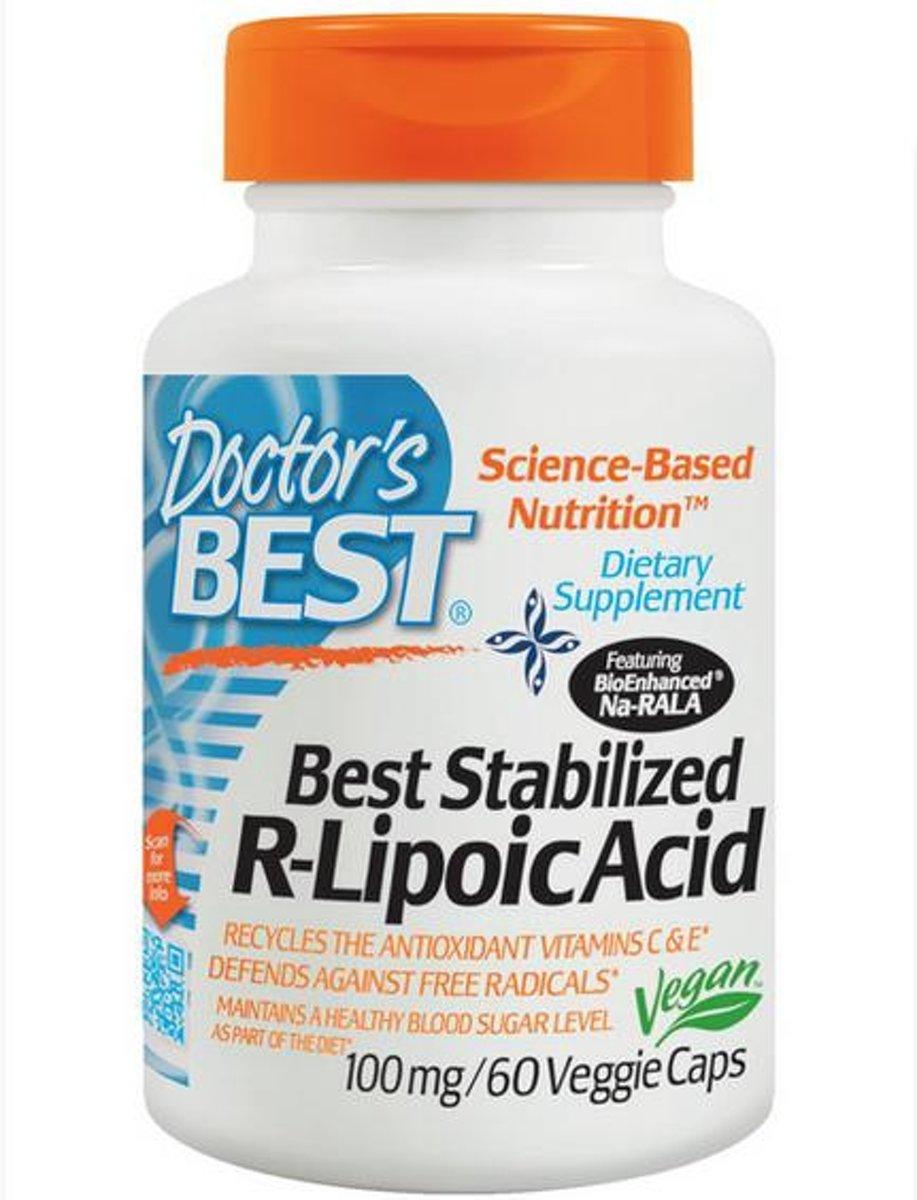 Best gestabiliseerde r-liponzuur 100 mg (60 Veggie Caps) - Doctor's Best