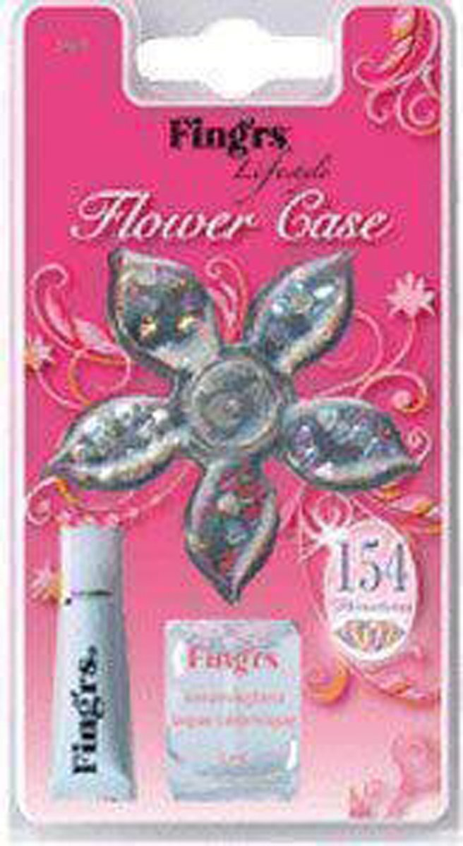 Fingr's Lifestyle  Flower Care 154 rhinestones,1 top coat, 1 huidlijm, 1 houten manicurestokje