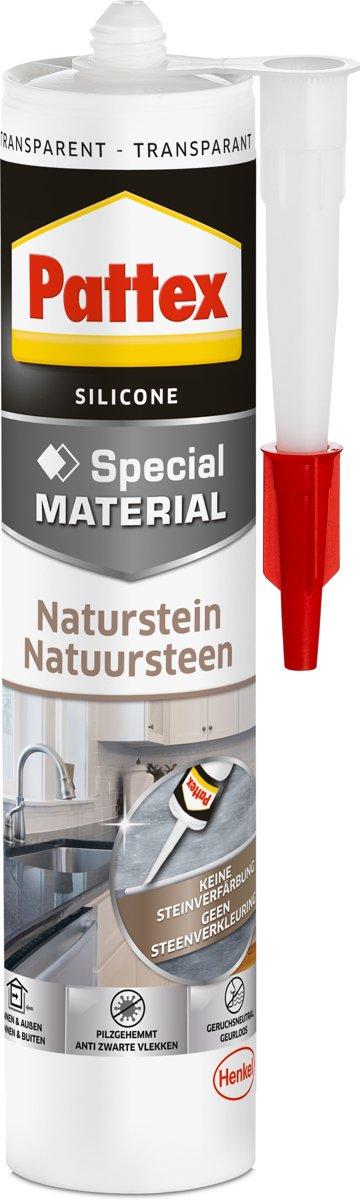 Pattex Naturstein Siliconenkit Kleur: Transparant 300 ml