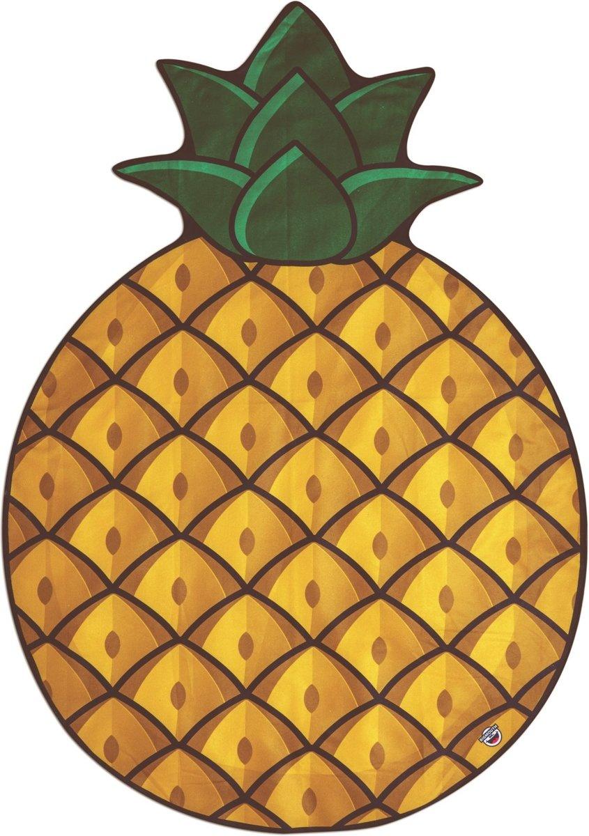 Ananas strandlaken – Beach Blanket Pinapple - Big Mouth badlaken - ø 1,5 meter