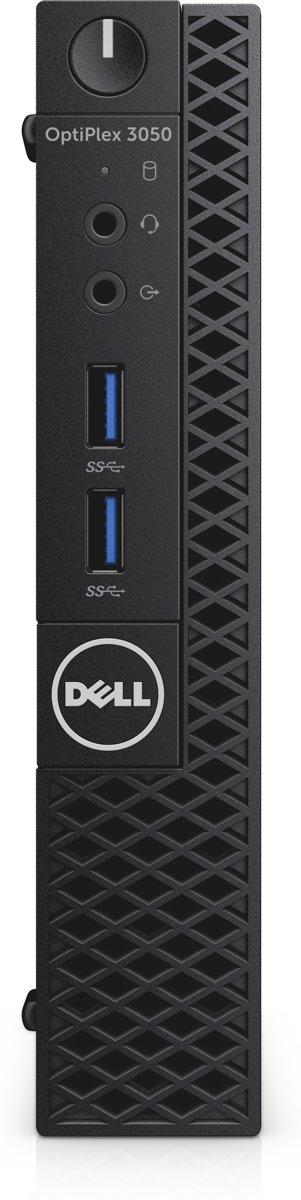 DELL OptiPlex 3050 3,4 GHz Zevende generatie Intel Core i3 i3-7100T Zwart Micro Tower Mini PC