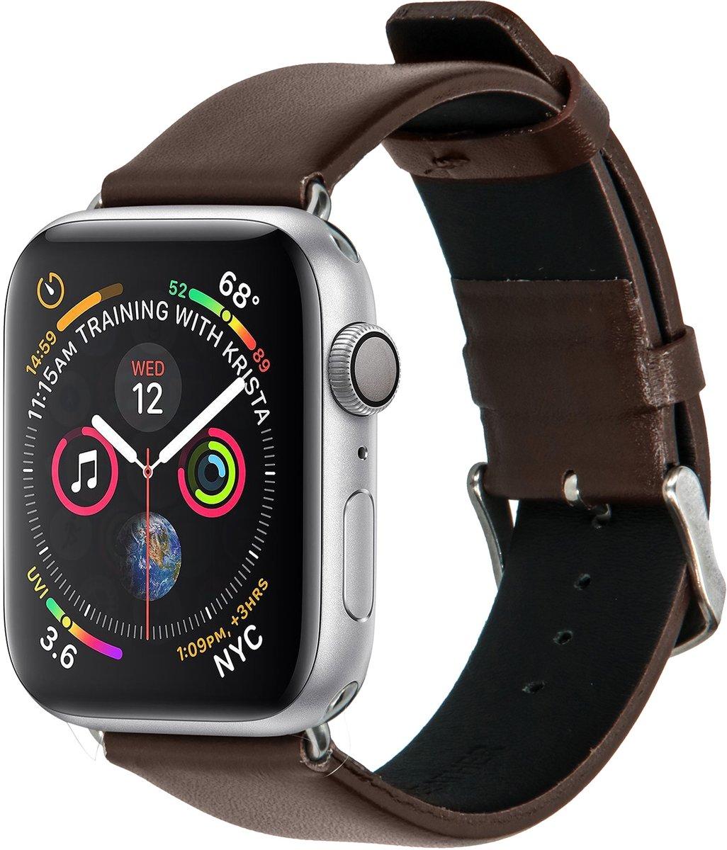 Merkloos Kunstleren bandje - Apple Watch Series 1/2/3/4 (42&44mm) - Bruin