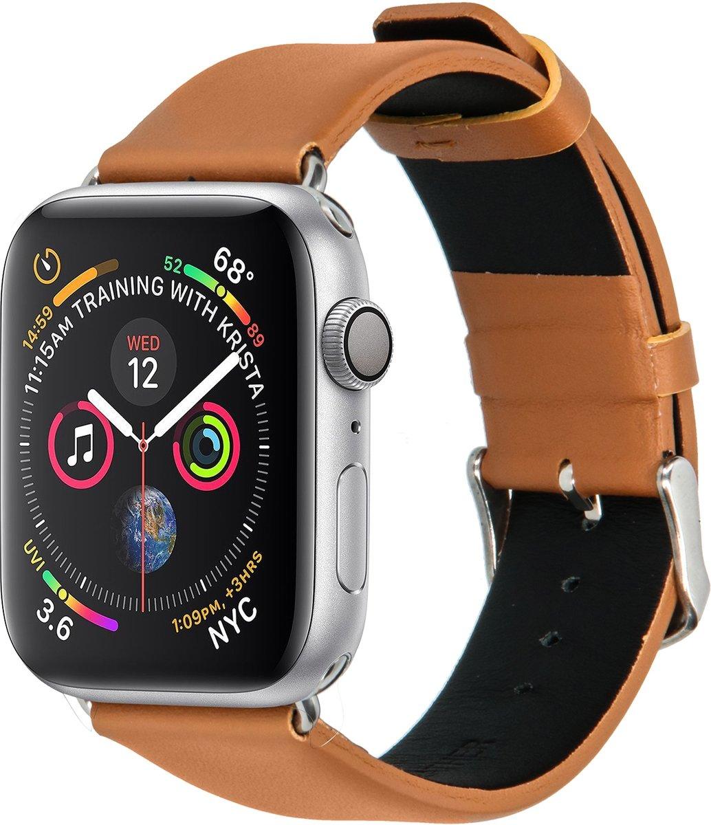 Merkloos Kunstleren bandje - Apple Watch Series 1/2/3/4 (38&40mm) - Bruin