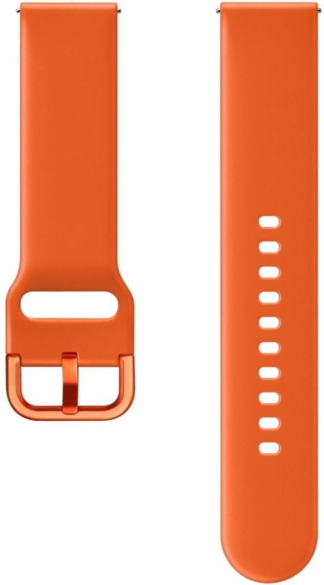 Samsung Siliconen bandje - Samsung Galaxy Watch Active - oranje