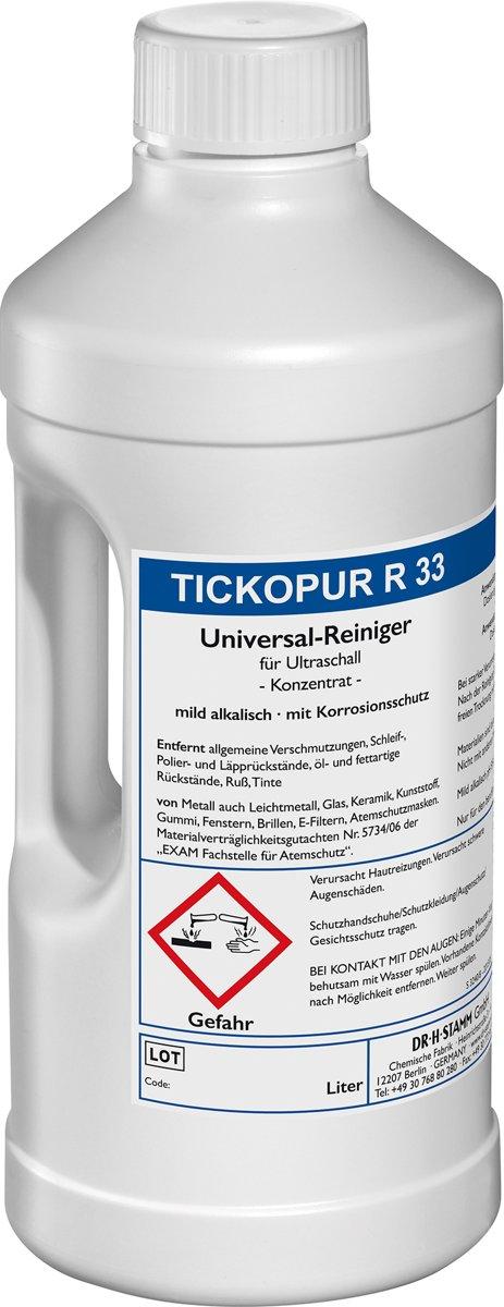 TICKOPUR R33 - 2L Reinigingsvloeistof - Universeel Reinigingsconcentraat voor vele toepassingen (ultrasoon vloeistof - reinigings - reiniger - reinigingsmiddel - middel)