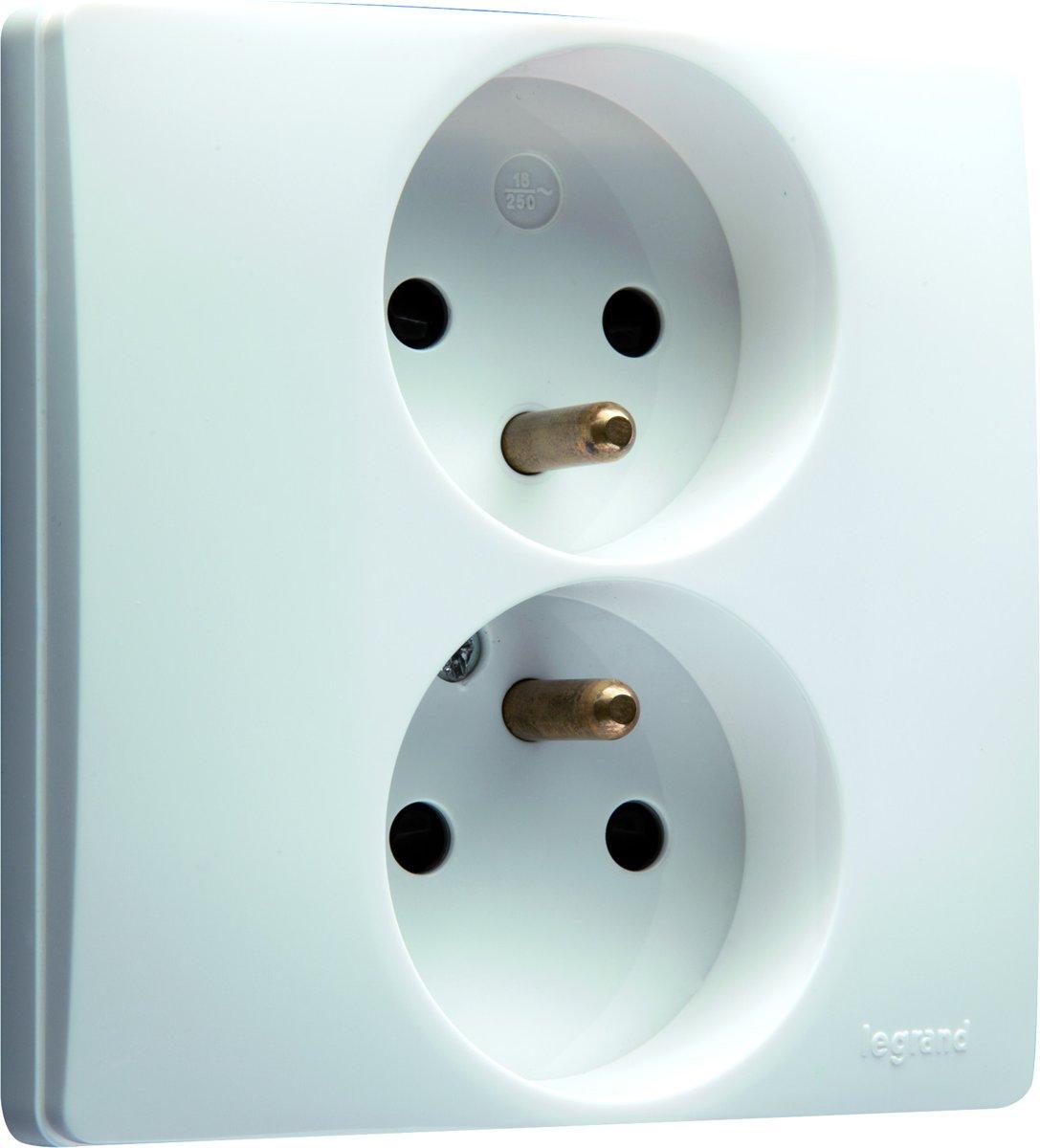Legrand NILO? inbouw stopcontact - PENAARDE - dubbel - wit