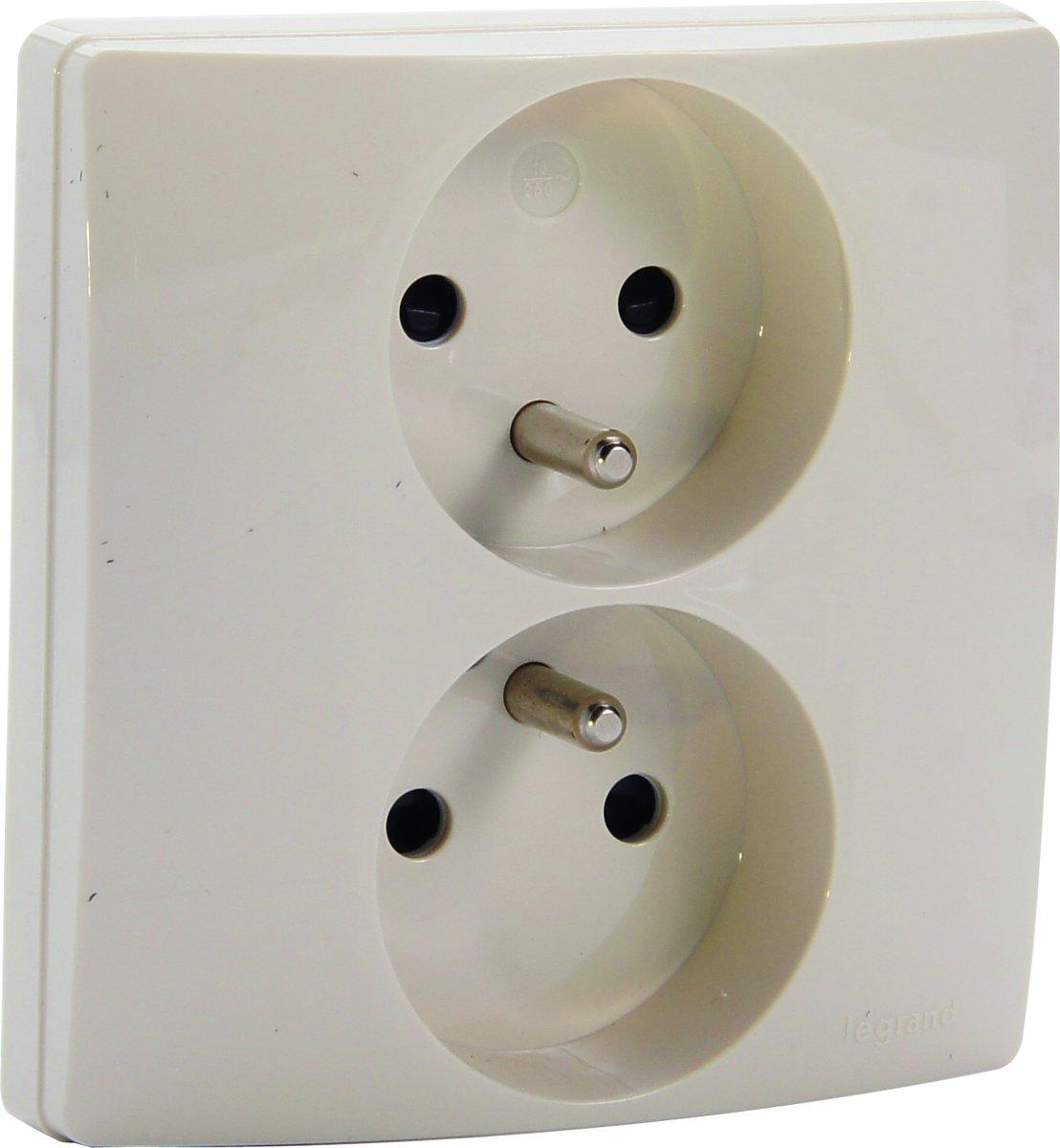 Legrand NILO? inbouw stopcontact - PENAARDE - dubbel - cr?me