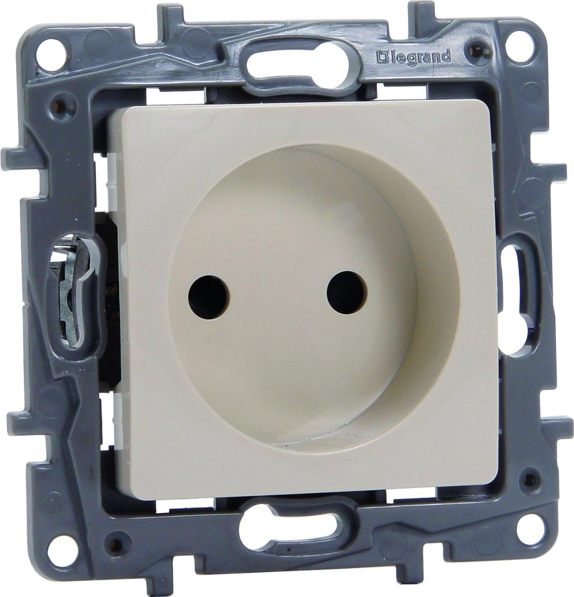 Legrand NILO? inbouw stopcontact - enkelvoudig - cr?me