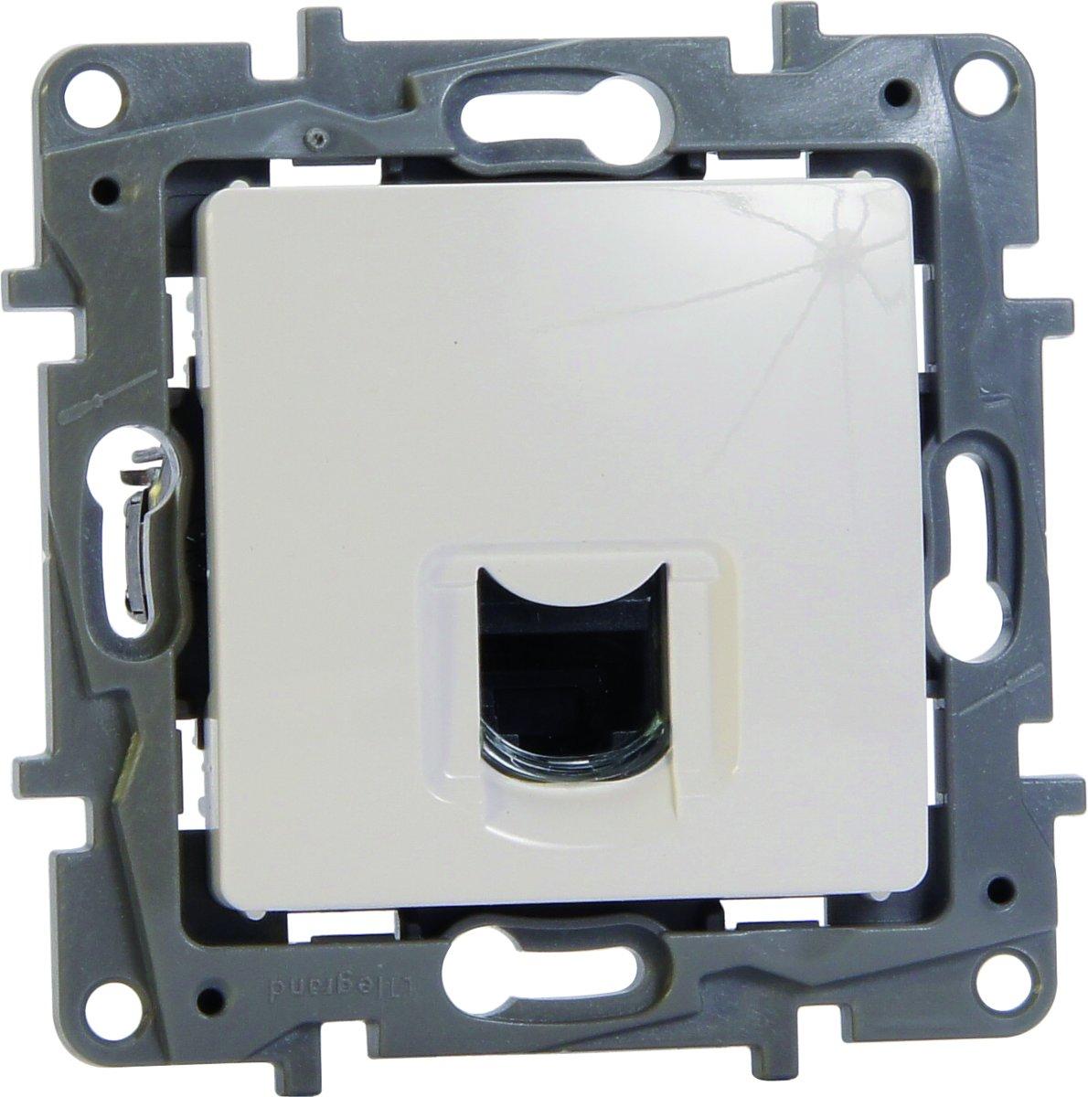 Legrand NILO? inbouw RJ45 UTP CAT6 stopcontact - enkelvoudig - wit