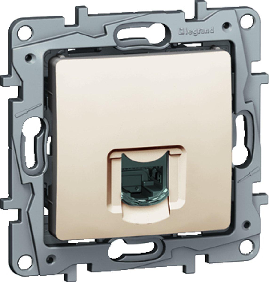 Legrand NILO? inbouw RJ45 UTP CAT6 stopcontact - enkelvoudig - cr?me