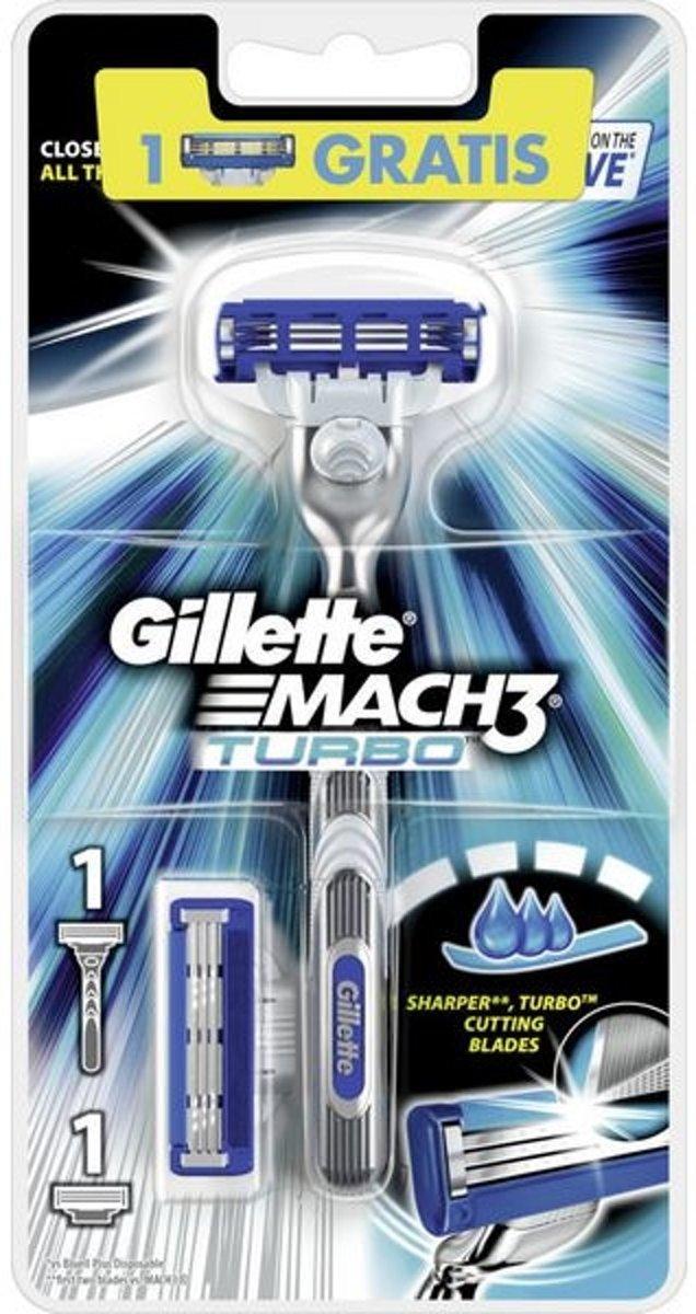 Gillette mach3 turbo houder + 1 scheermesjes