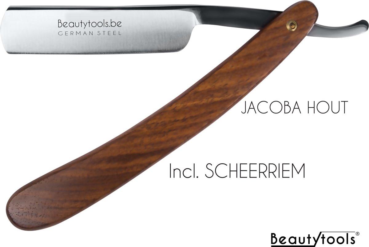 Beautytools Scheermes/Klassieke Klapmes - Luxe Jatobahout (incl. Scheerriem) - (SR-1284)